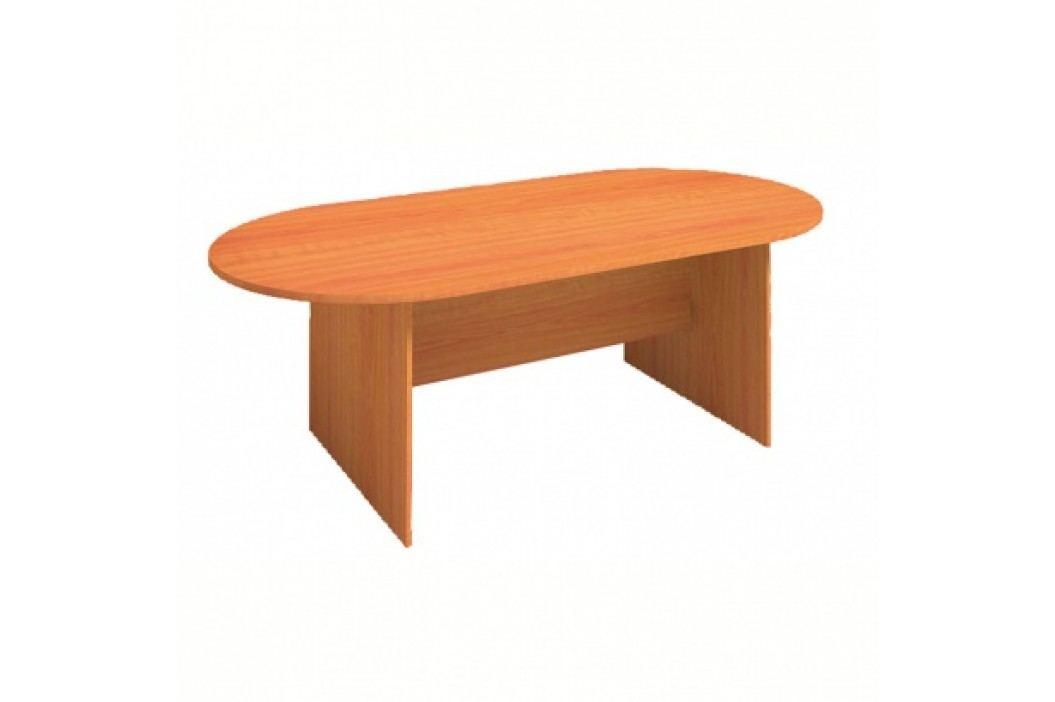 Jednací stůl PRIMO, 2000x1000 mm, oválný, buk