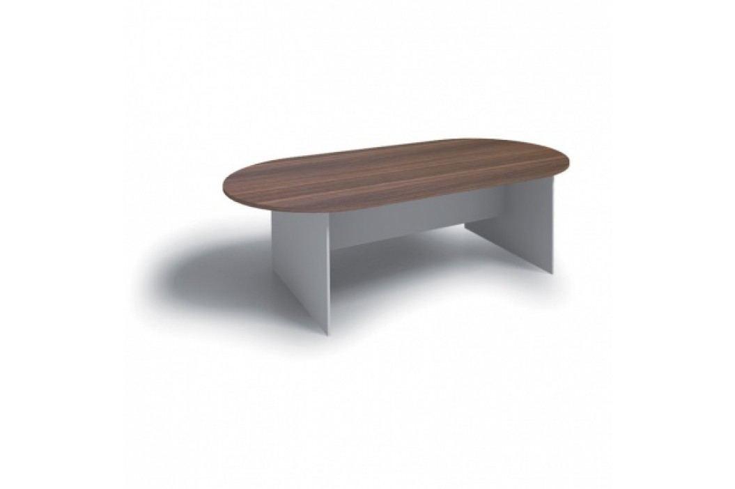 Jednací stůl PRIMO 2400x1200 mm, oválný, buk