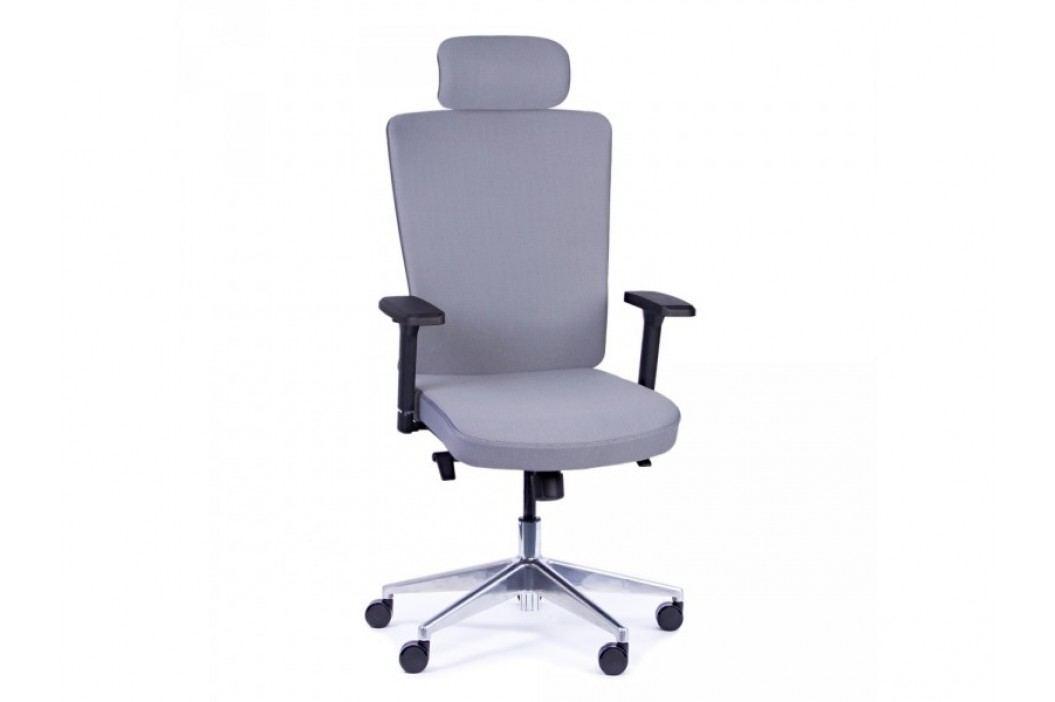 STRAKOŠ R-MAN Kancelářská otočná židle Rose šedá