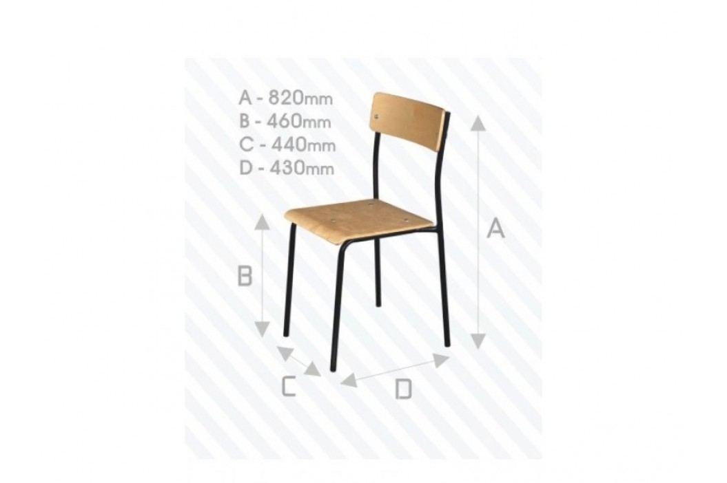 Kovová židle STRAKOŠ školní