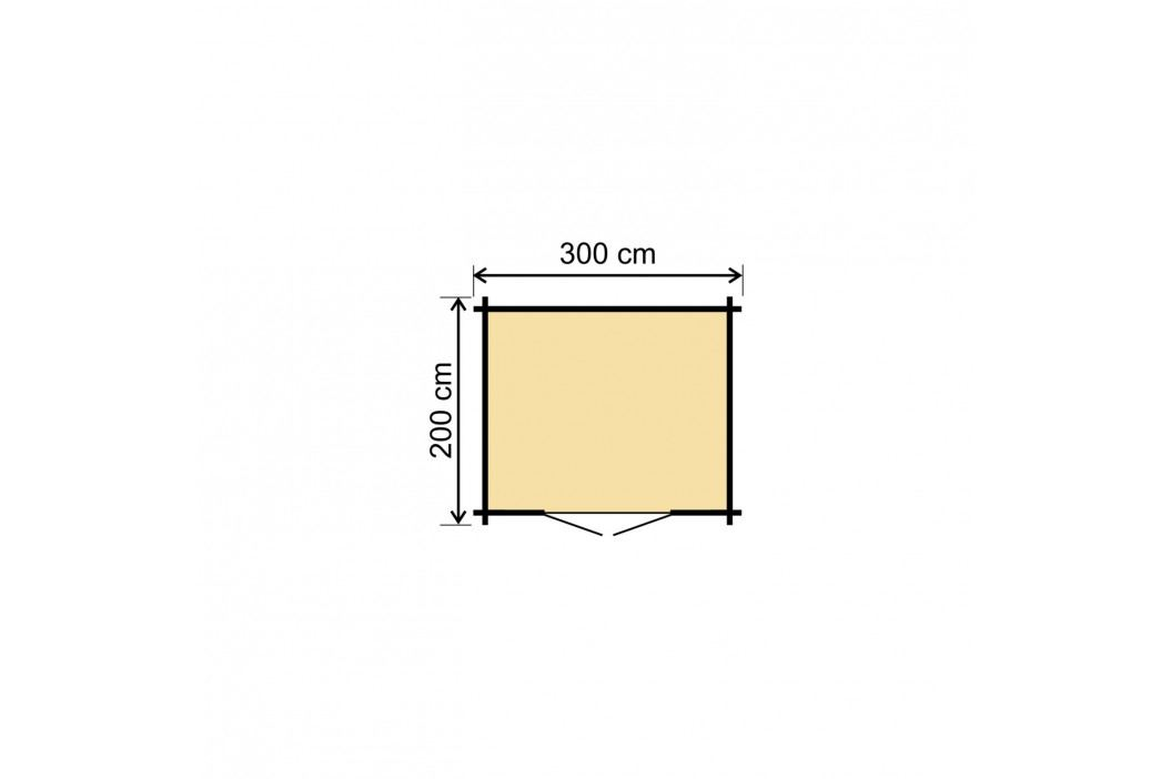 LANIT PLAST, s.r.o. Zahradní domek LANITPLAST HANNA 300 x 200 cm
