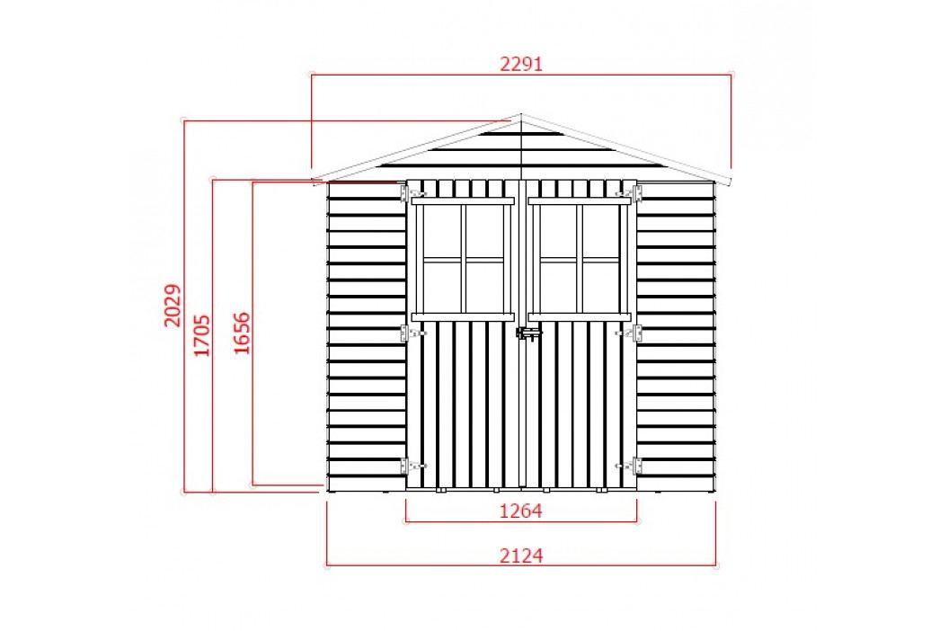 LANIT PLAST, s.r.o. zahradní domek LANITPLAST EVA 229 x 194 cm