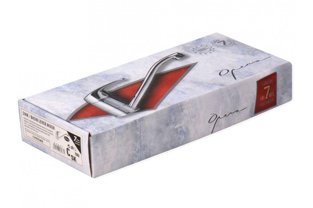 OPERA baterie dřezová stojánková, ramínko 22cm, chrom, 40mm, SEDAL