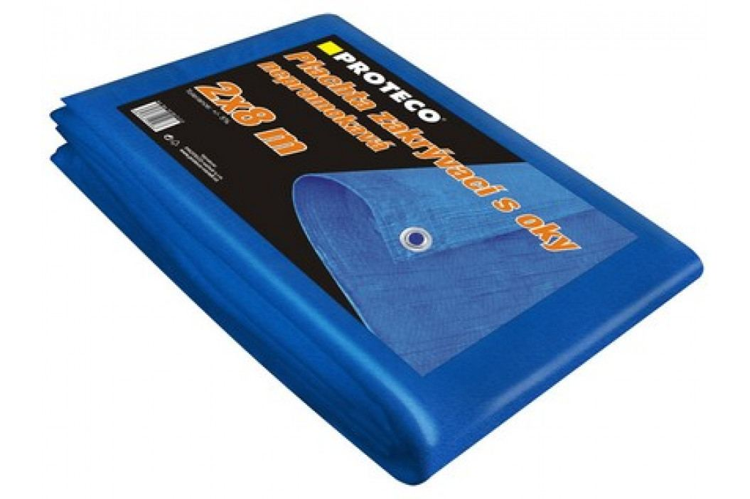 Proteco plachta  20x20 m  nepromokavá s oky modrá 50g/m2