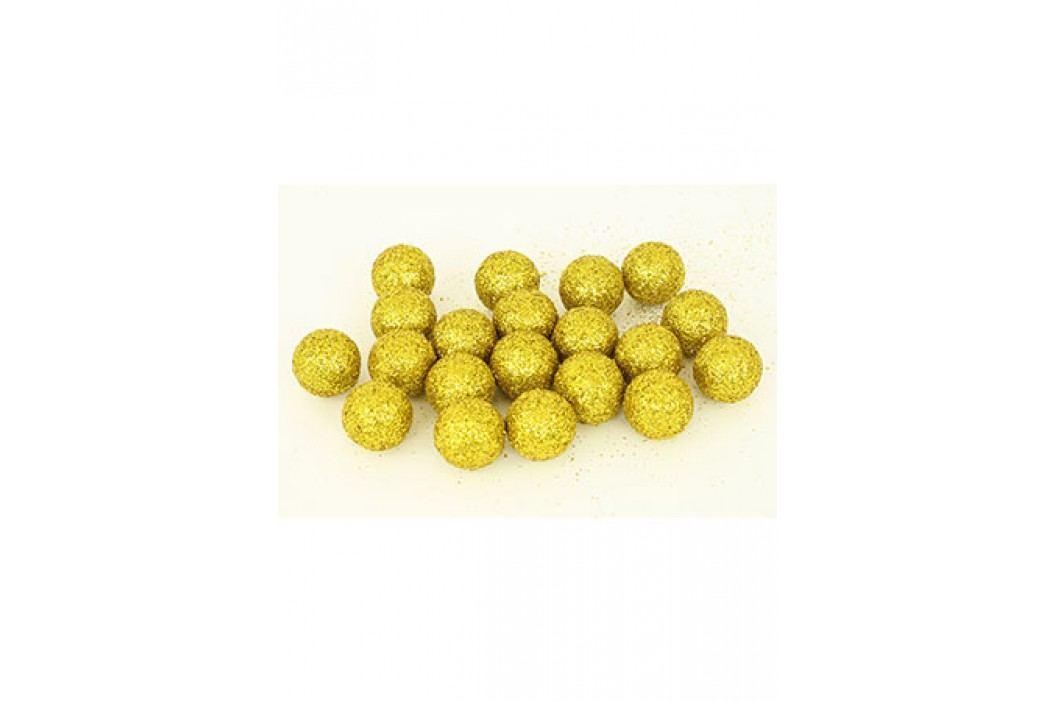 Autronic Vánoční dekorační koule zlatá. Cena za 1 polybag