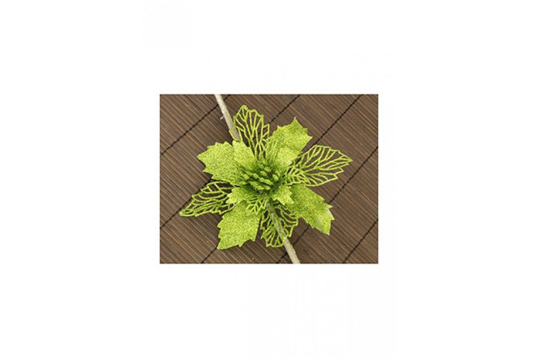 Květina zelená dekorační na klipu. Cena za 1ks.