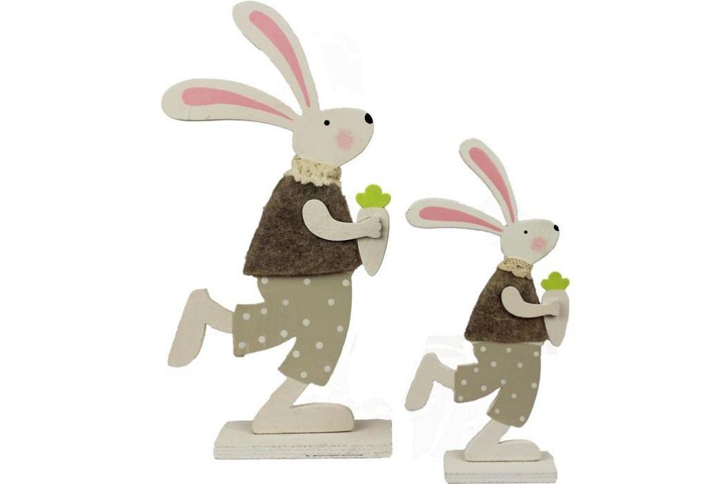 Dřevěný králíček, sada 2 ks  D0113