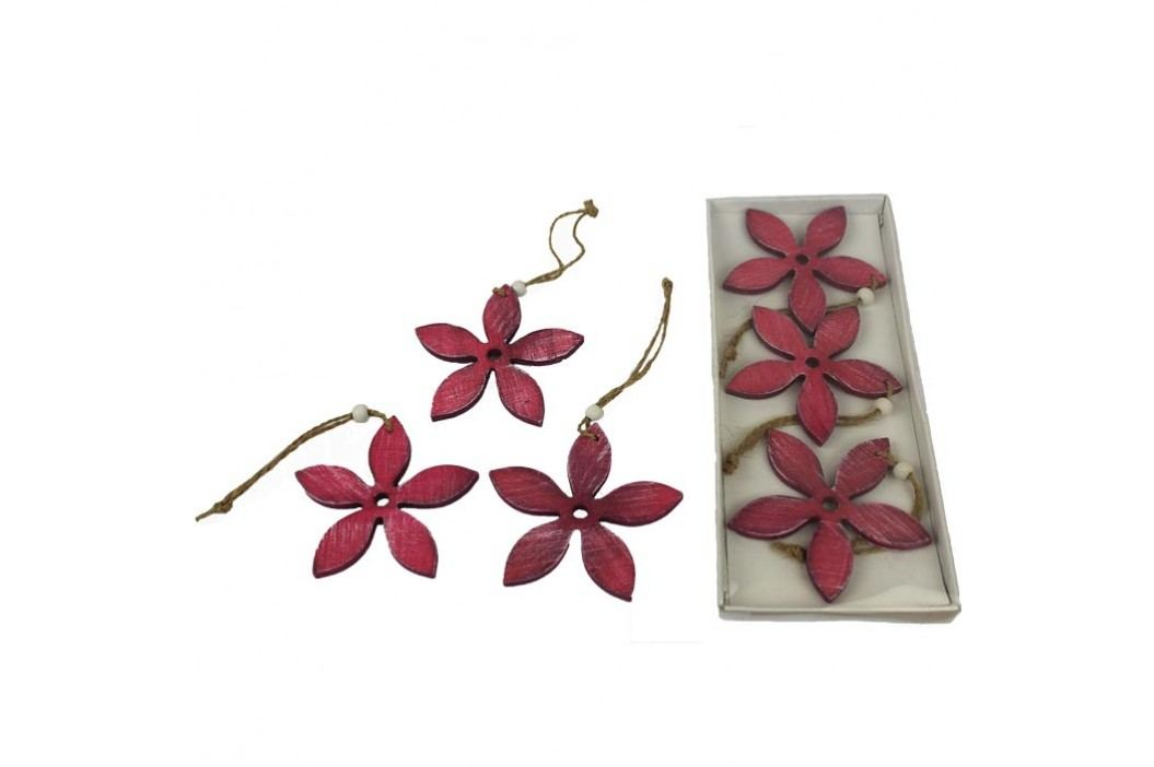 Dekorační květy, sada 6 ks  D0116