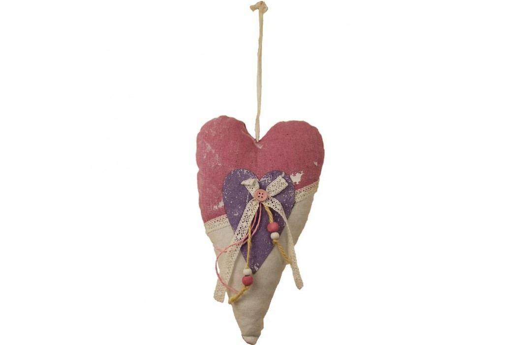 Závěsné srdce látkové X0153