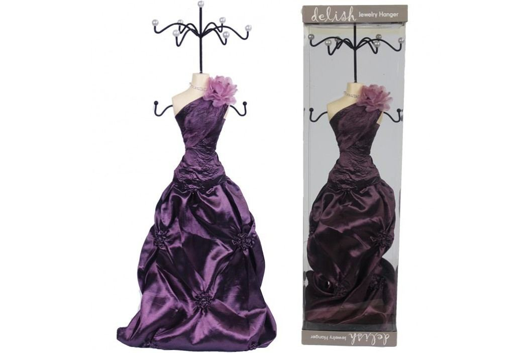 Stojánek na šperky fialový 42cm X0204