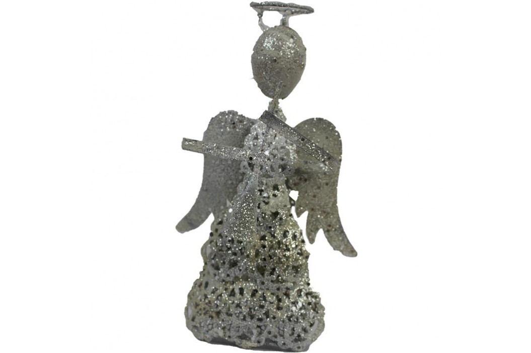kovový anděl s trumpetou velký, K0046