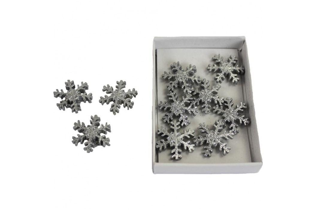 Hvězdičky stříbrné 10ks X0297