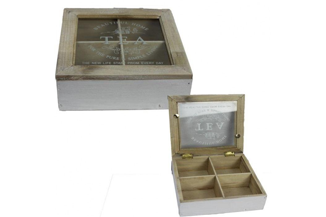 dřevěná krabička TEA, D0095