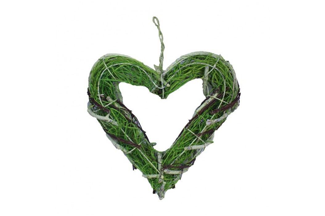 srdce závěsné zelené v. 25 cm