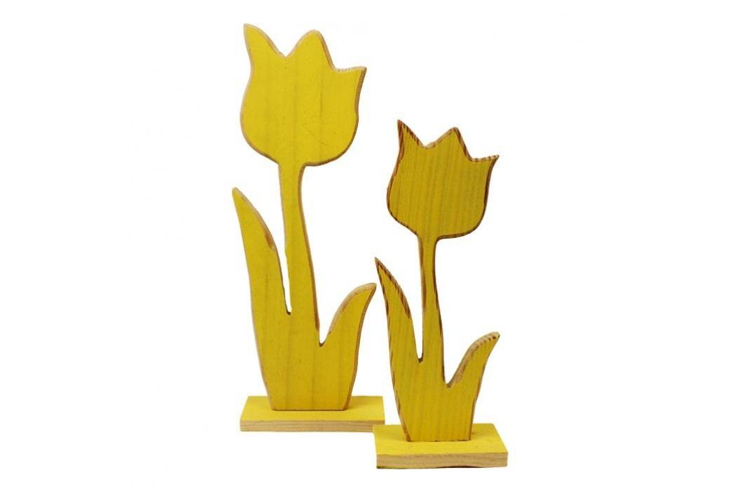 tulipány, dřevo, sada 2 ks