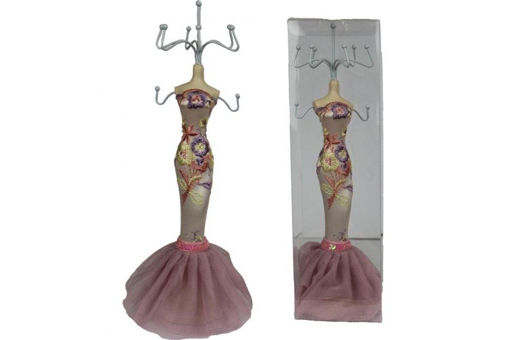 Stojánek na šperky růžový X0209