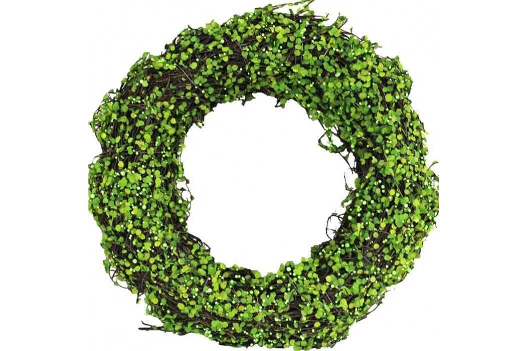 Věnec se zelenou dekorací pr.35cm P0344