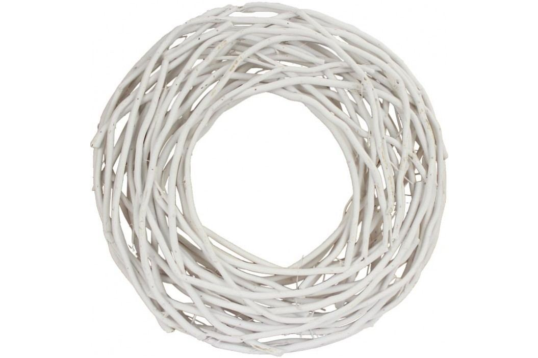 Věnec proutěný bílý pr. 44 cm P0276