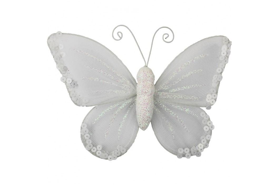 Motýl s klipem bílý X0322