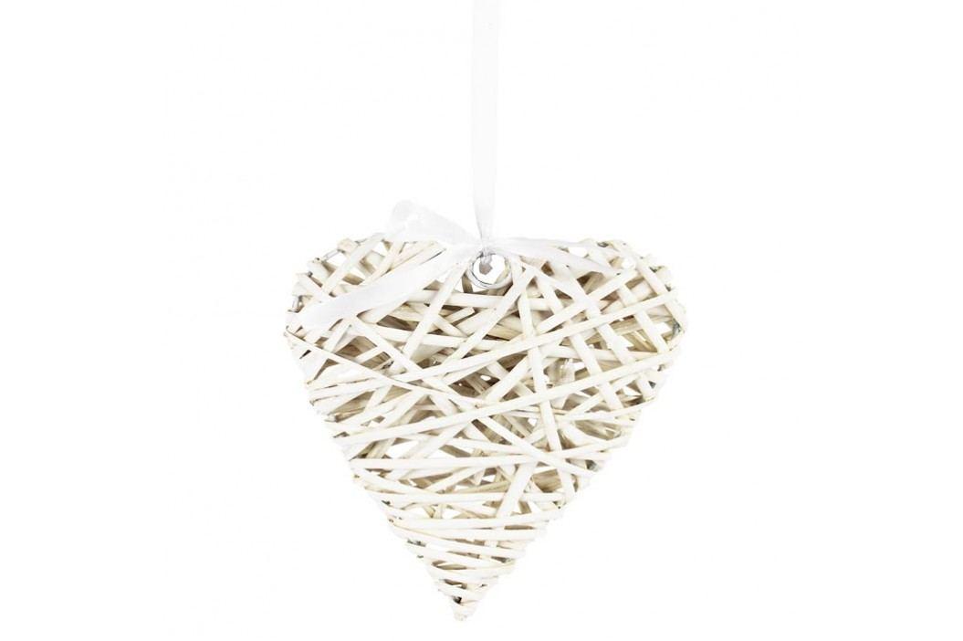 Srdce bílé 20 cm