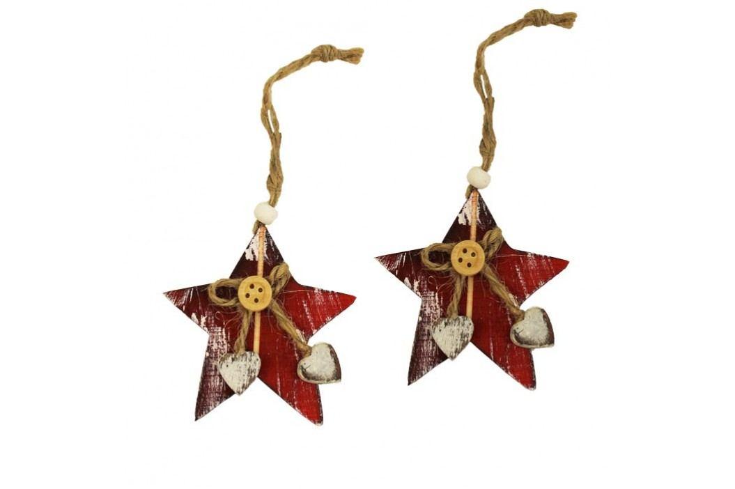 Dekorační hvězdy červené, 2ks