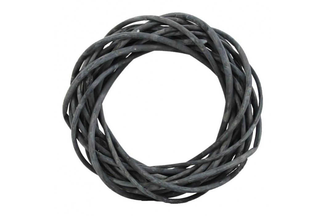 Věnec tm. šedý pr. 25 cm