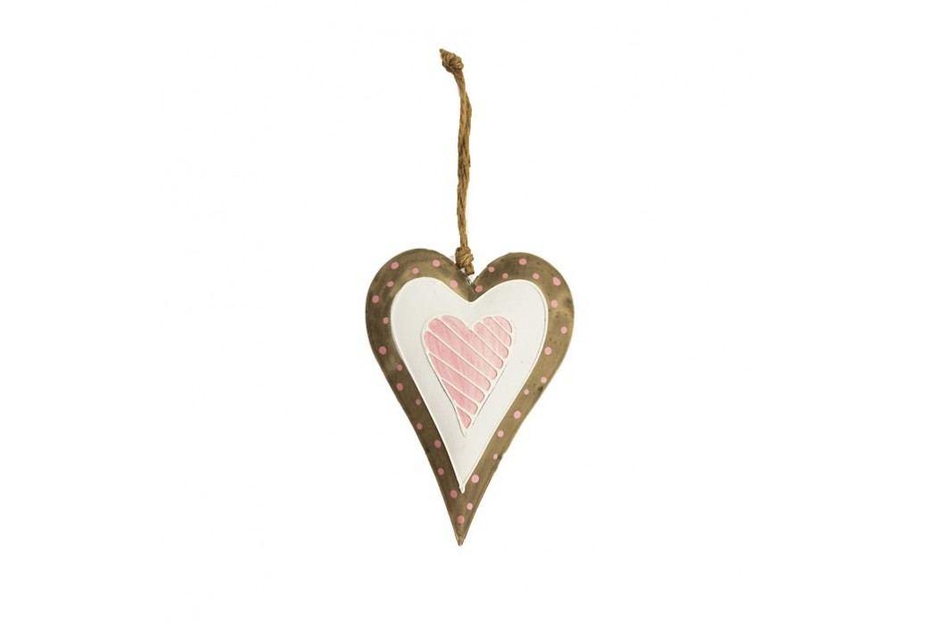 Srdce kovové menší