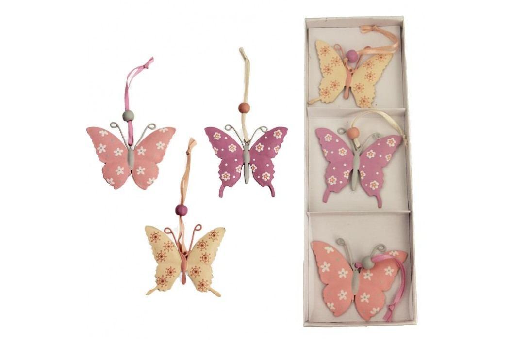 Kovoví motýli, 3ks