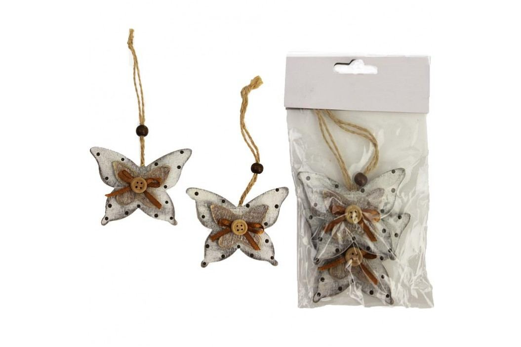 Motýl dřevěný D0580, 2ks