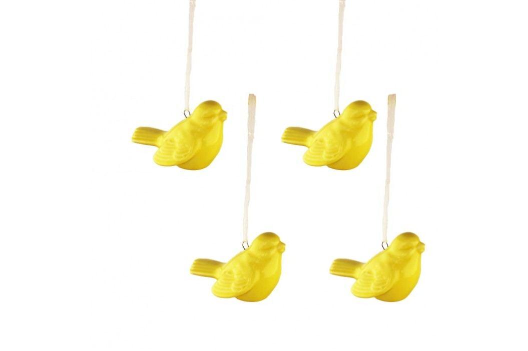 Ptáček žlutý, 4ks