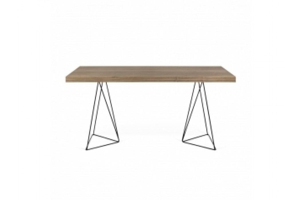 TH Stůl SOLVAS TRIANGLE 180 cm -ořech dýha - černá (Ořech (dýha),černé nohy)