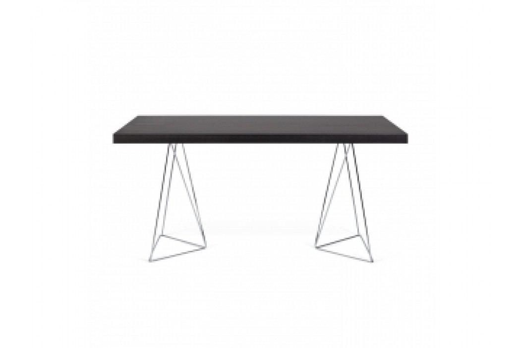 TH Stůl SOLVAS TRIANGLE 180 cm (Wenge (buk- dýha, mořený v černé, chrom. nohy)