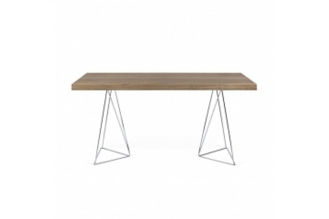 TH Stůl SOLVAS TRIANGLE 180 cm (Ořech (dýha), chrom. nohy)