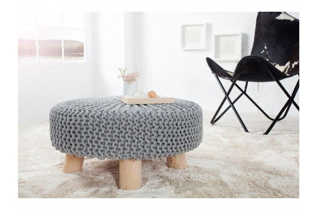 INV Stolička Sedel 65cm šedá, pletená