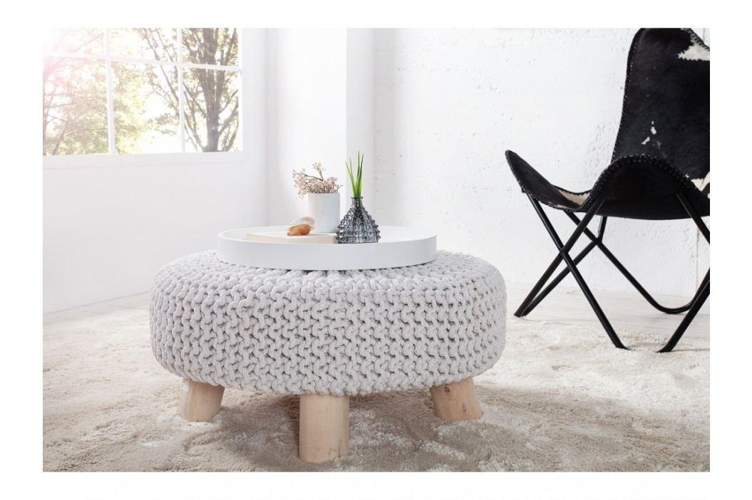 INV Stolička Sedel 65cm bílá, pletená