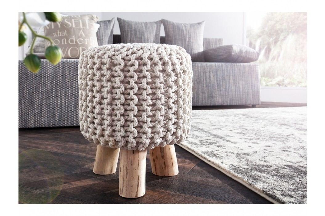 INV Stolička Sedel 45cm bílá, pletená
