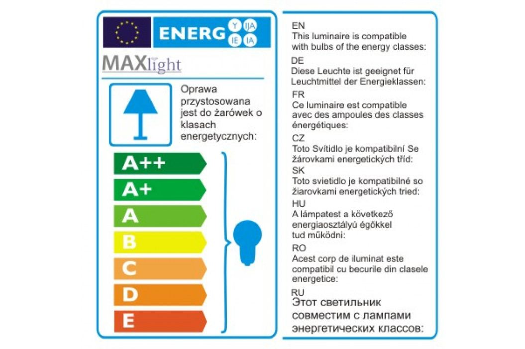 Závěsné svítidlo Maxlight Orlando 5 5103/5A/BK