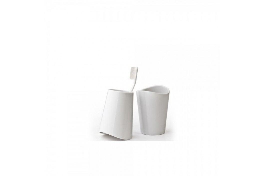 stojan na kartáček QUALY FLIPCUP 2v1, bílý Qualy