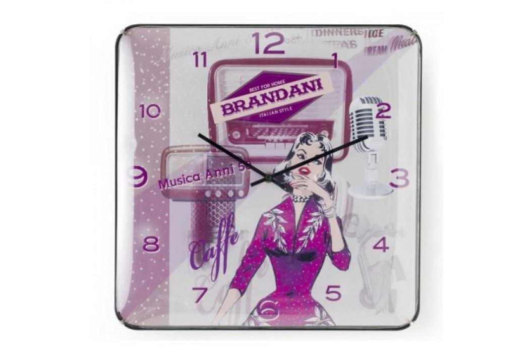 Nástěnné hodiny BRANDANI, retro 55313