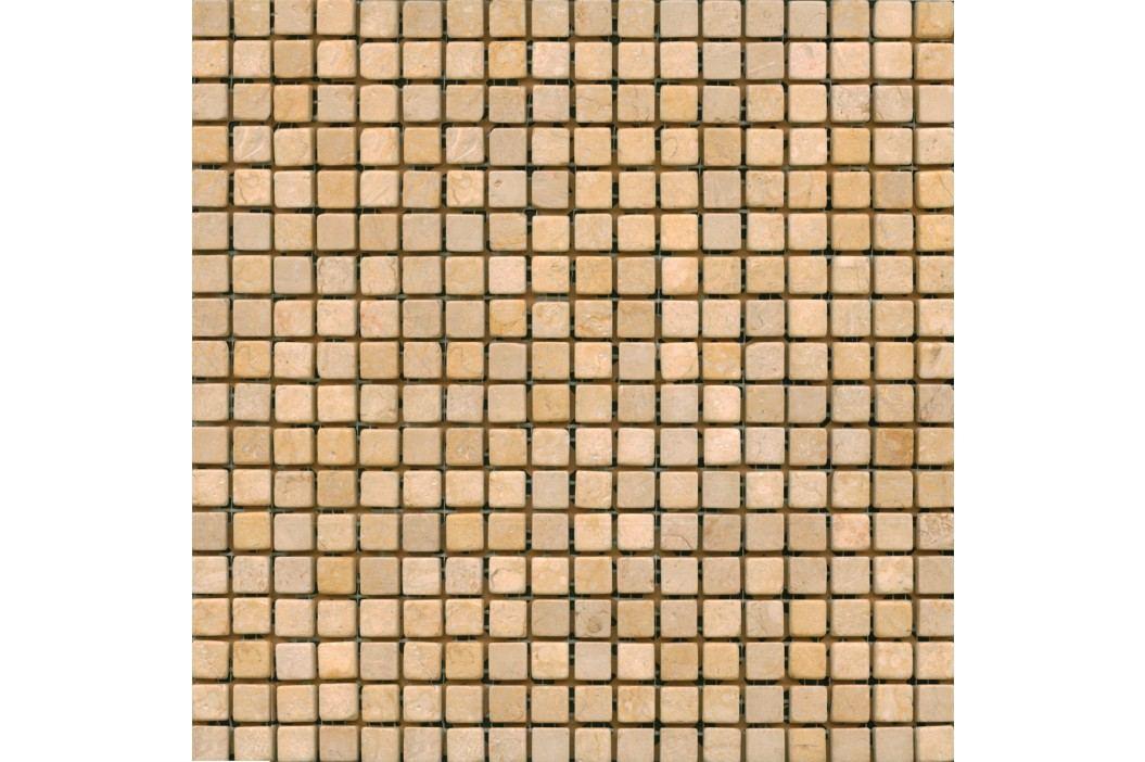 Premium Mosaic Stone Kamenná mozaika krémová 1,5/1,5 STMOS15CRW