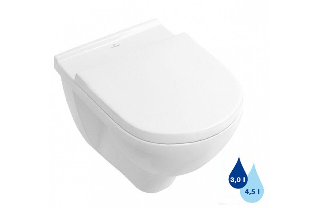 Závěsné WC Villeroy & Boch O.Novo, zadní odpad, 56cm 56601001