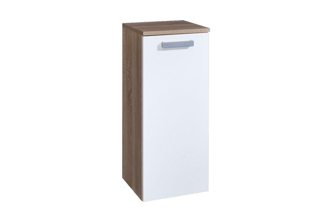 Skříňka s košem Naturel Vario 30 cm, bílá lesklá VARIOK30DBBL