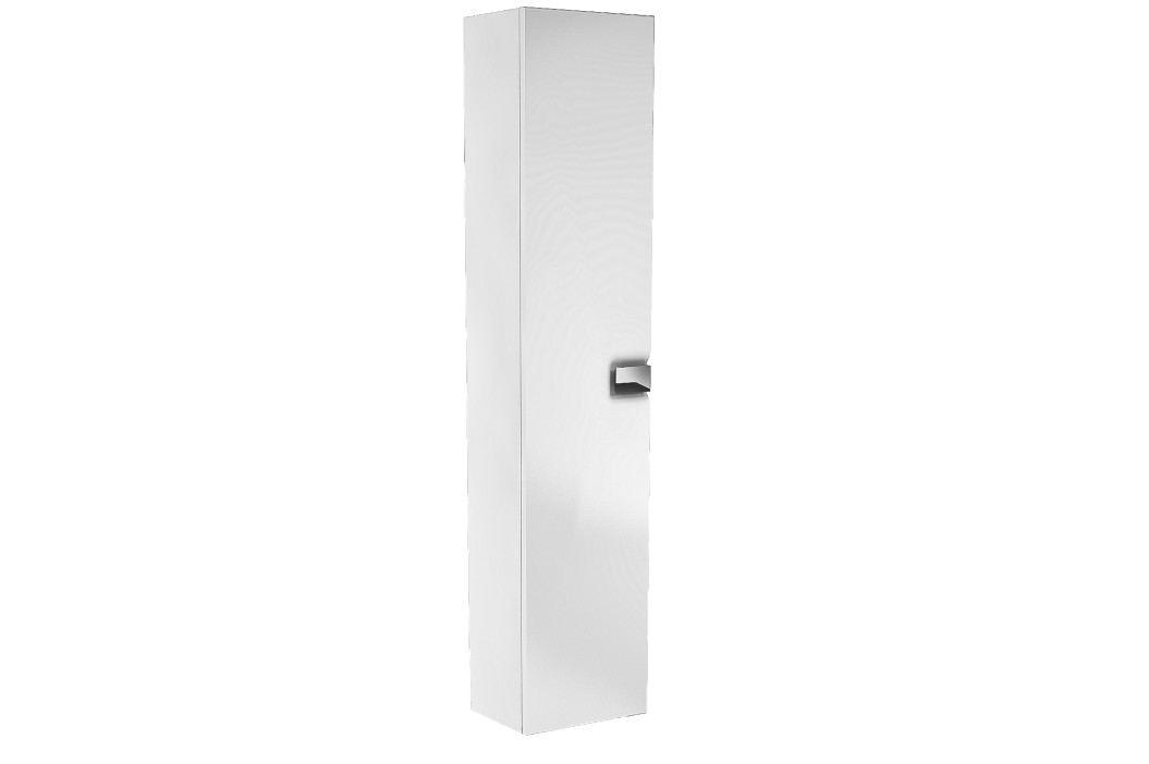 Vysoká skříňka Kolo Twins, bílá lesklá, univerzální otevírání SIKONKOTWVSBL