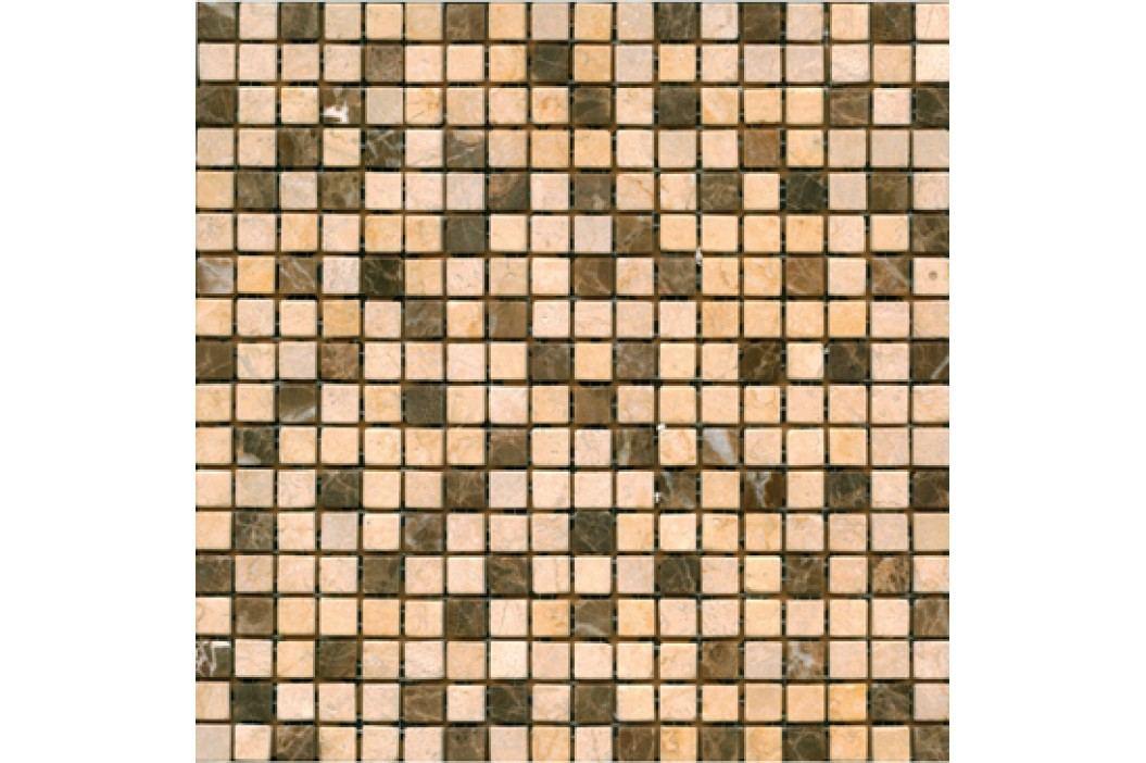 Premium Mosaic Stone Kamen.moz.-MIX krém.- hnědá 1,5/1,5 STMOS15MIX4