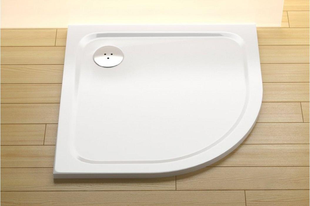 Sprchová vanička čtvrtkruhová Ravak Elipso 80x80 cm, R 500, litý mramor XA244401010