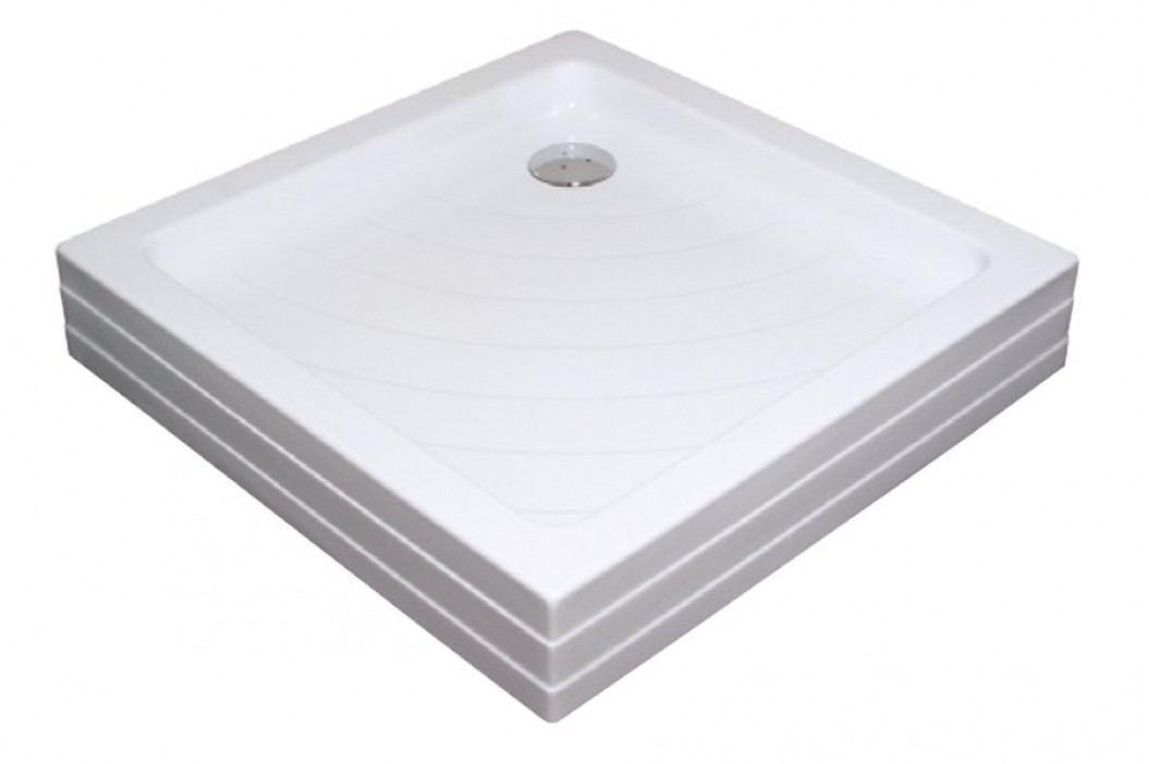 Sprchová vanička čtvercová Ravak Angela 80x80 cm, akrylát A004401120