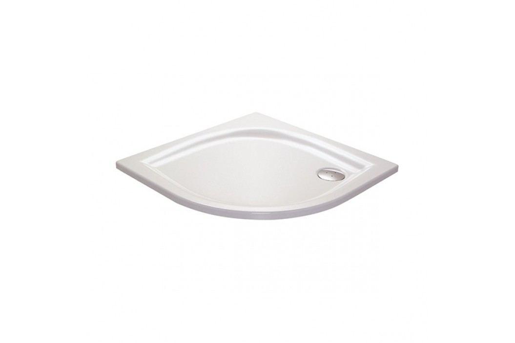 Sprchová vanička čtvrtkruhová Ravak Elipso 80x80 cm, R 500, litý mramor XA234401010