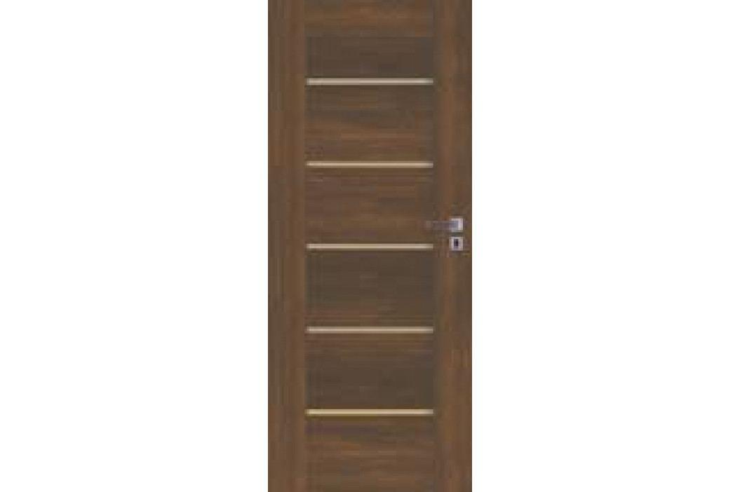 Interiérové dveře Naturel Aura levé 60 cm ořech karamelový AURAOK60L