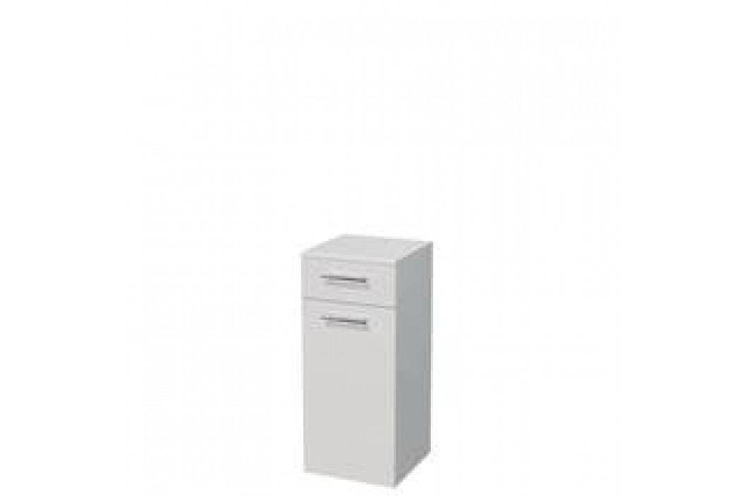 Skříňka s košem Naturel Ratio 35 cm, bílá lesklá SN351ZK9016G