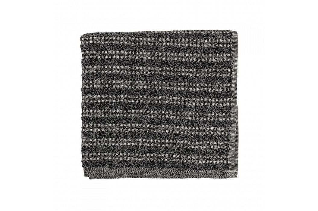 Bloomingville Froté ručník Black 100x50 cm, černá barva, textil